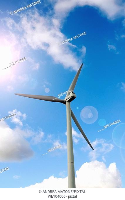 A wind turbine Molise region Italy