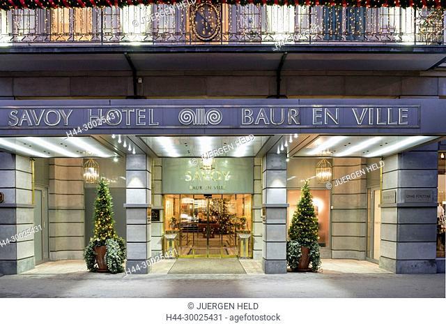 Savoy Hotel, BAUR en ville, Hotel Entrance, Zurich, Switzerland