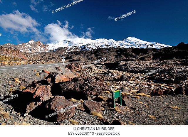 Karge Landschaft beim Mount Ruapehu