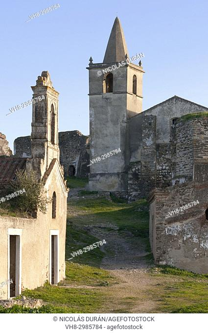 Jorumenha Castle along the Guadiana River, Alentejo, Portugal