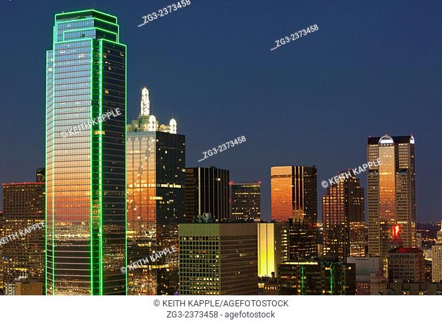 Dallas Skyline and sunset