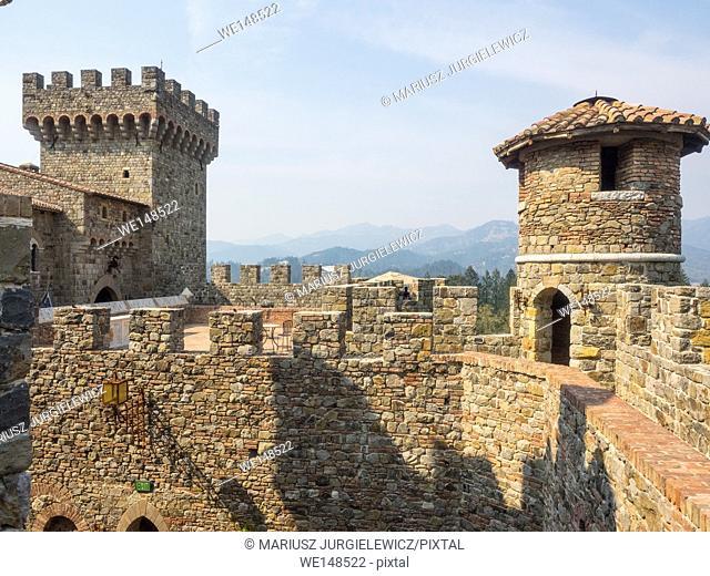 Castello di Amorosa is a castle and a winery located near Calistoga, California