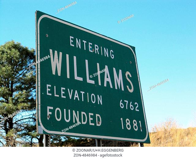 williams place-name sign
