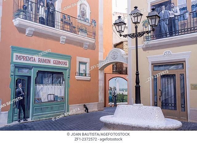 Painted walls in El Vendrell,Catalonia,Spain