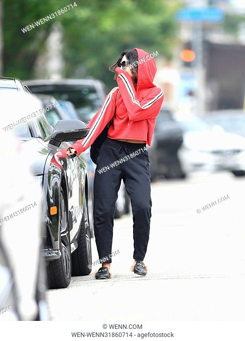 Vanessa Hudgens has her hand over her face after pilates Featuring: Vanessa Hudgens Where: Los Angeles, California, United States When: 30 Jun 2017 Credit: WENN