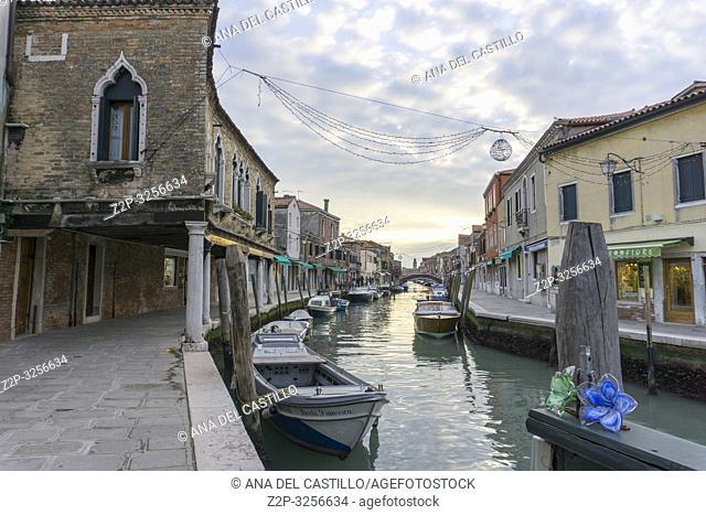 Sunset in Murano island Venice, Veneto, Italy