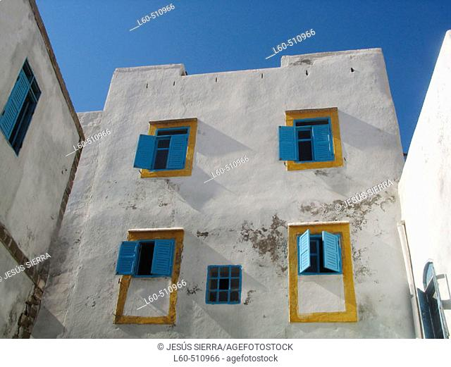 Windows. Essaouira. Morocco