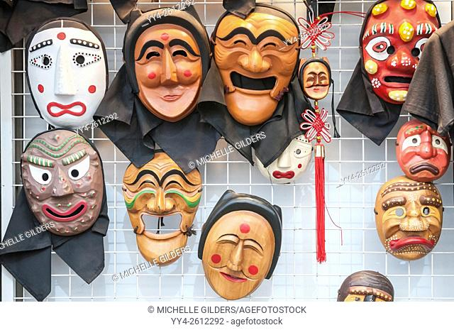 Korean folk masks,t'al, Insa-dong, Seoul, South Korea