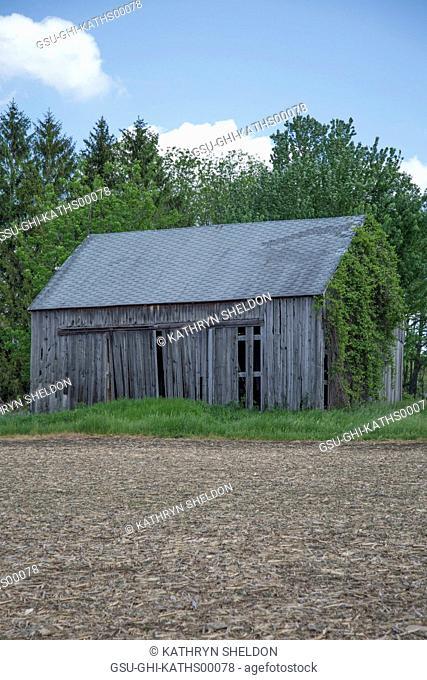 Old Barn near Bare Field
