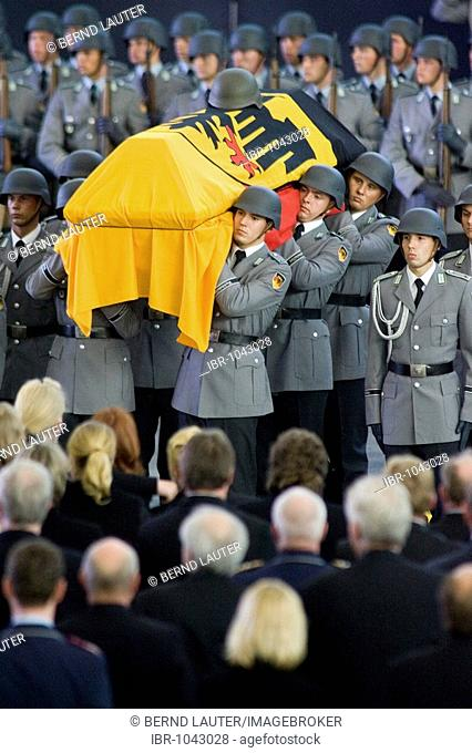 Obsequies for the three German Federal Armed Forces soldiers killed by a suicide attack in Kunduz on the military section of the airport Cologne/Bonn