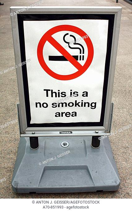No smoking area. London. England