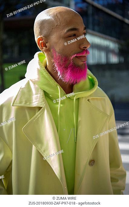 September 30, 2018 - Paris, France - Aalto. - Streetstyle, ppl, People on street, Woman, Paris fashion week 2019 Women ready to wear for spring summer