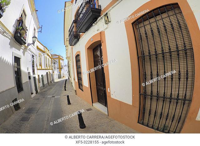 Typical Architecture, Street Scene, Old Town, Zafra, Badajoz, Extremadura, Spain, Europe