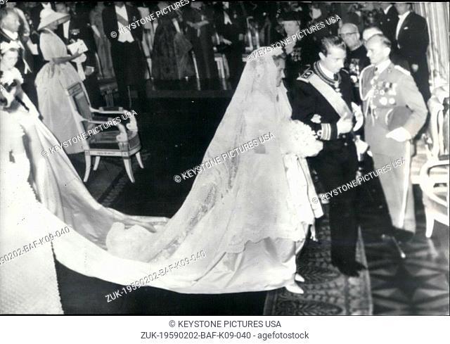 Feb. 02, 1959 - Princess Paola Wedding Saint Gudule Cathedral Ceremony (Credit Image: © Keystone Press Agency/Keystone USA via ZUMAPRESS.com)