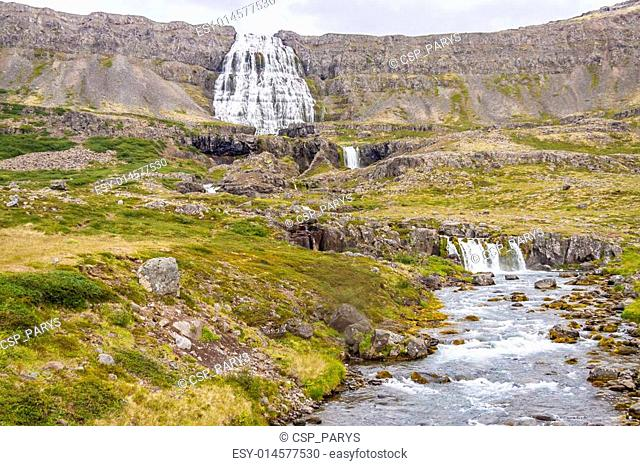 Dynjandi waterfall and rapid river - Iceland