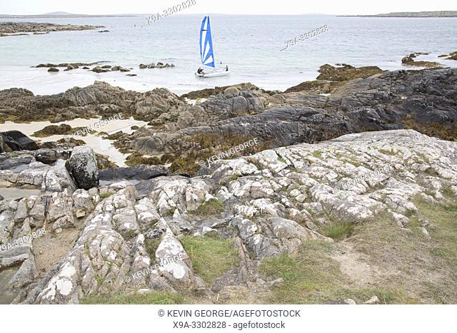 Sailing at Dogâ. . s Bay, Roundstone; Connemara; Galway; Ireland