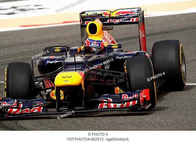 20.04.2012- Free Practice 2, Mark Webber (AUS) Red Bull Racing RB8, Bahrain Grand Prix, Manama