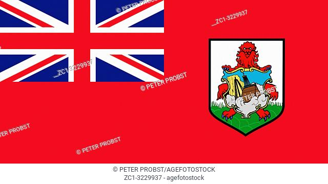 Flag of the British overseas territory Islands of Bermuda