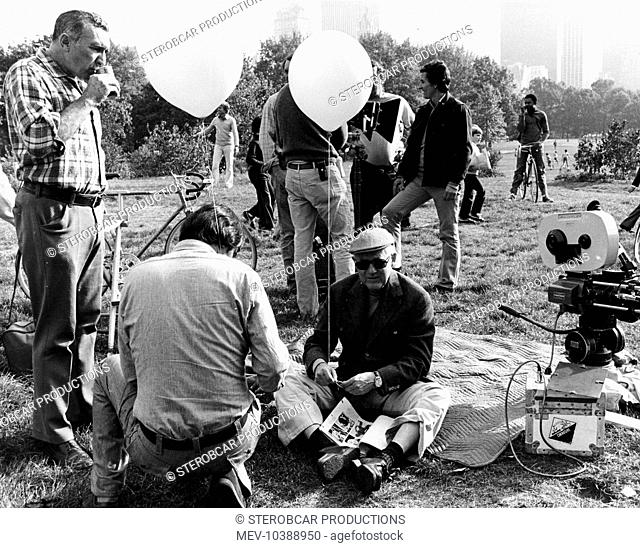 AUDREY ROSE Director ROBERT WISE [On location in Central Park, New York City]