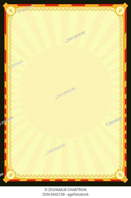 Illustration of a design background poster for your restaurant menu, advertisement, diploma or else