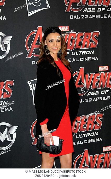 Emanuela Zero ; zero; actress ; celebrities; 2015;rome; italy;event; red carpet ; avengers, age of ultron