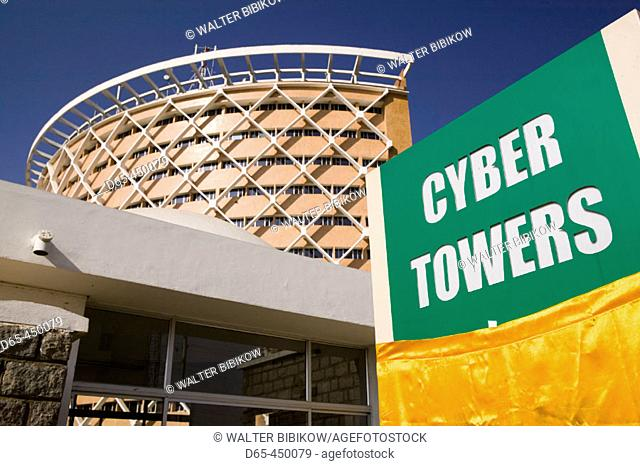 Hitec City. Major center of Indian Software Call Centre Industry. Cyber Towers Building. Hyderabad. Andhra Pradesh. India