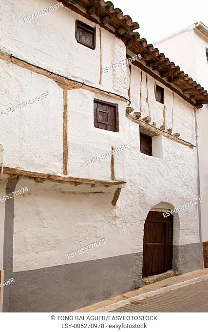 Cuenca Canete in Spain Castilla la Mancha white vintage house