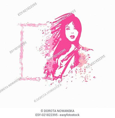 Abstract woman. Vector fashion illustration