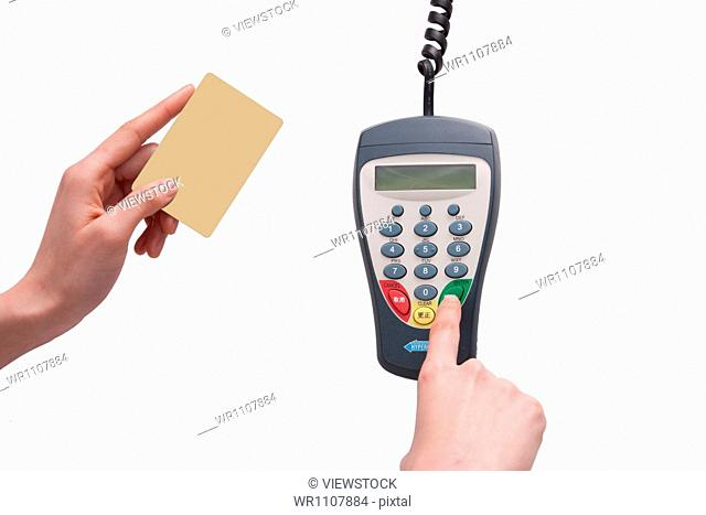 Credit cards and POS machine
