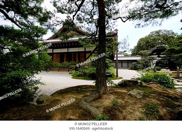 JAPAN, KYOTO, 17.07.2008, Kinkaku-ji complex (which means -Golden Pavilion Temple-) is the popular name of Rokuon-ji Temple, which means -Deer Garden Temple-