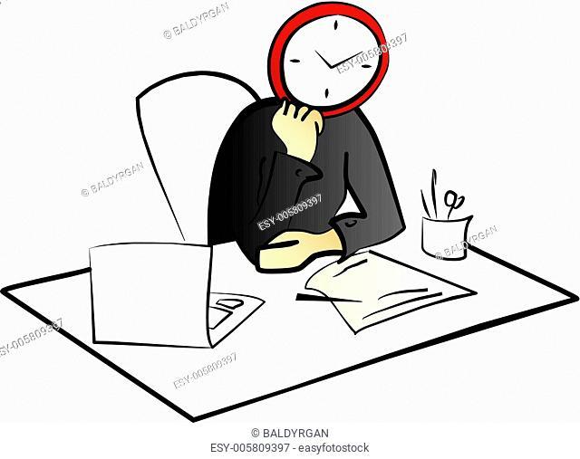 time and mane concept illustration