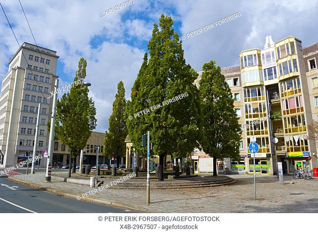 Bautzner Strasse, Albertplatz, Neustadt, Dresden, Saxony, Germany