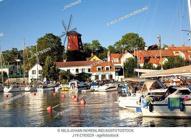 Sailboats at port Strängnäs, Sweden