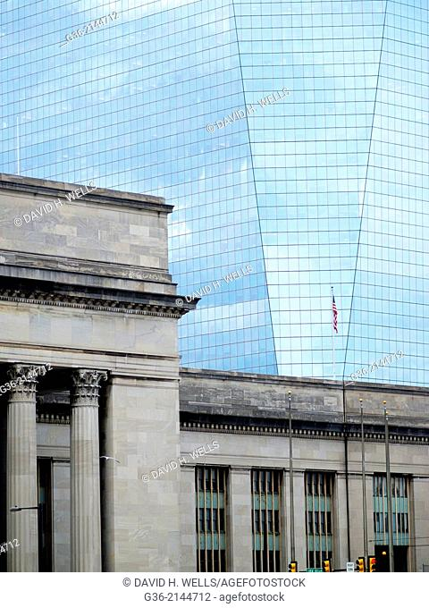 Old and new buildings in Philadelphia, Pennsylvania, United States