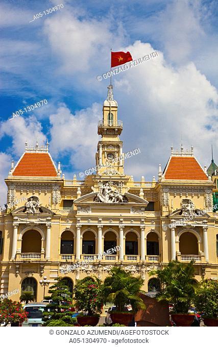 City Hall. Ho Chi Minh City (formerly Saigon). South Vietnam