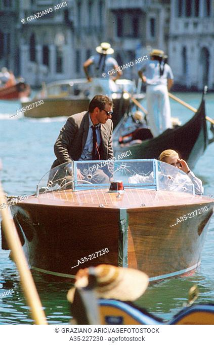 Harrison Ford and Alison Doody. Venice. Italy
