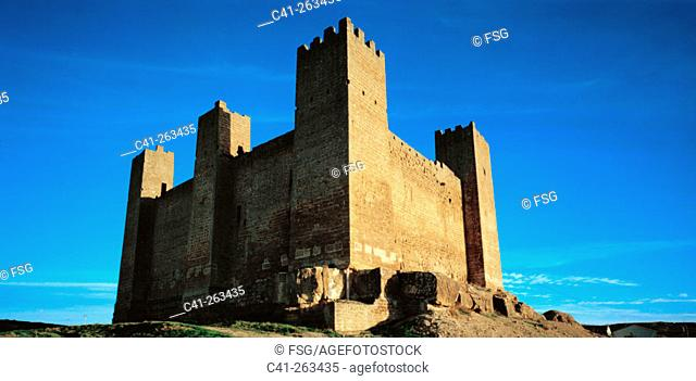 Sadaba Castle in Zaragoza province. Aragon. Spain