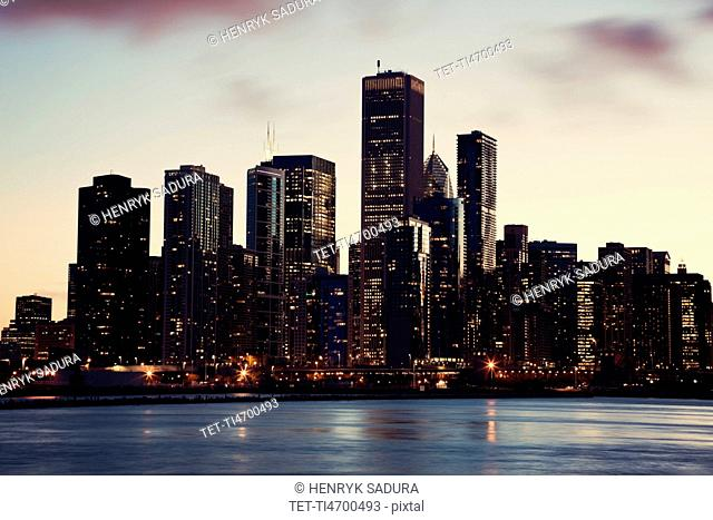 USA, Illinois, Chicago, City view
