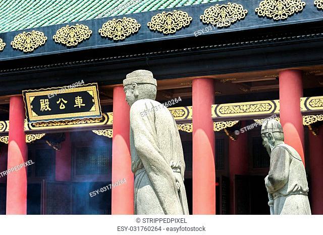 TAI WAI, HONG KONG - SEPT 2013 - Che Kung Temple is a major Hong Kong temple located near Tai Wai in the Sha Tin District of Hong Kong