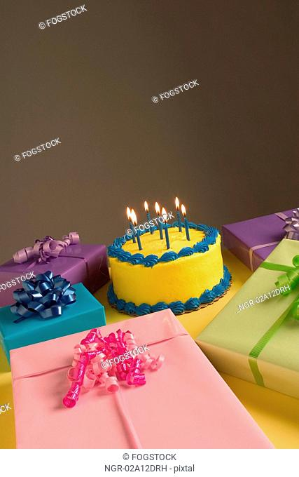 Presents and Birthday Cake