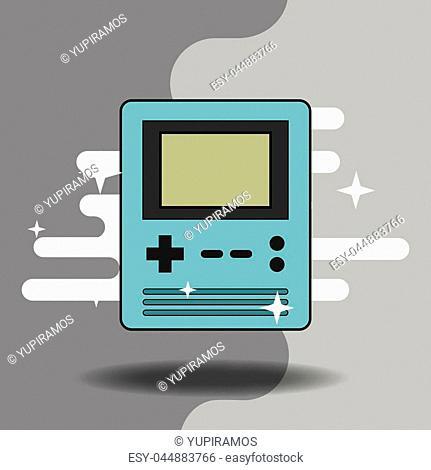 portable video game console retro style vector illustration
