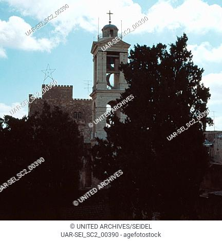 Die Geburtskirche in Bethlehem, 1970er Jahre. The Church of Nativity in Bethlehem, 1970s