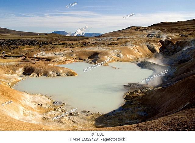 Iceland, North East Region, Hverir, Myvatn Lake, Volcanic Area, Smoke and Gas