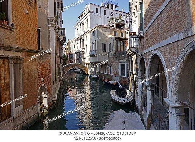 Cannaregio area. Venice, Veneto, Italy, Europe