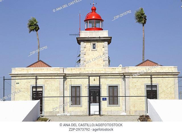 Lighthouse at Ponta da Piedade reef in Lagoa Algarve, Portugal