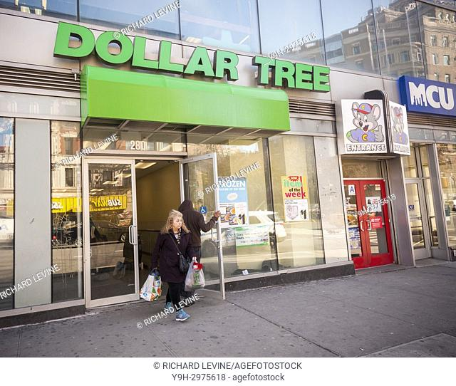A Dollar Tree store in the Harlem neighborhood in New York ion Tuesday, November 21, 2017. Dollar Tree reported third-quarter sales and profit that beat...