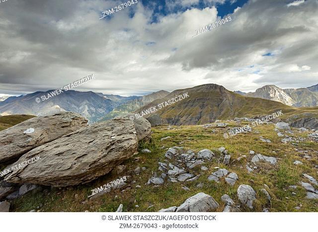 Morning in Sierra de Tendenera, Spanish Pyrenees near Panticos, Huesca, Aragon