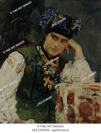 Portrait of Sofia Dragomirov, 1889. Found in the collection of the State Art Museum of Republic Tatarstan, Kazan