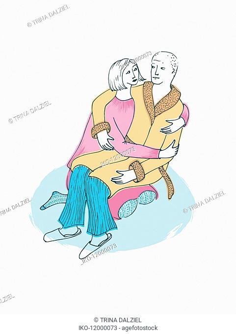 Woman supporting ill husband
