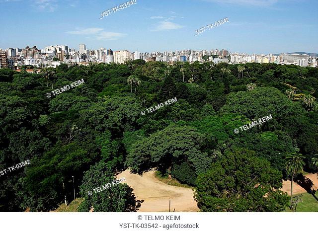 Cityscape, city, building, construction, architecture, trees, Porto Alegre, Rio Grande de Sul, Brazil
